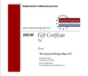 primitive country gift certificates